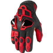 Icon Hypersport Short Gloves Red